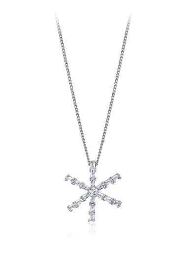 Tophills Diamond Co. 2,10 Ct Pırlanta Efekt Altın Estrella Kolye  Renkli